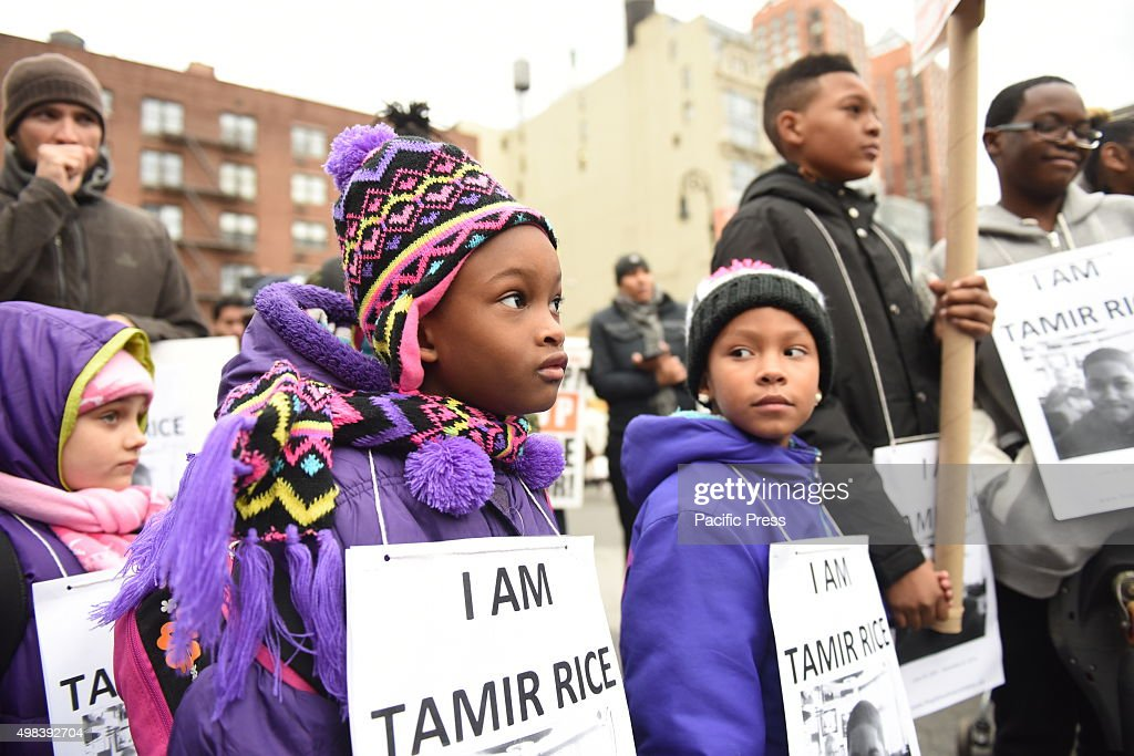 Kids with tamir rice signs stop mass incarcerations network