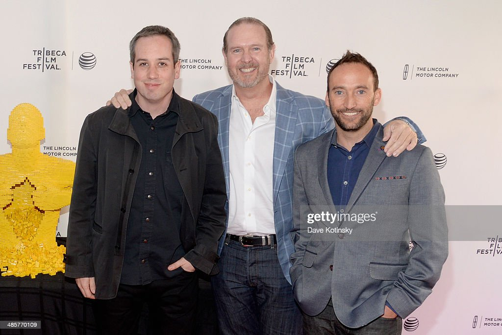 Kief Davidson, Jim Packer and Brendan Kiernan attend the 'Beyond the Brick: A LEGO Brickumentary' Premiere during the 2014 Tribeca Film Festival at the SVA Theater on April 20, 2014 in New York City.