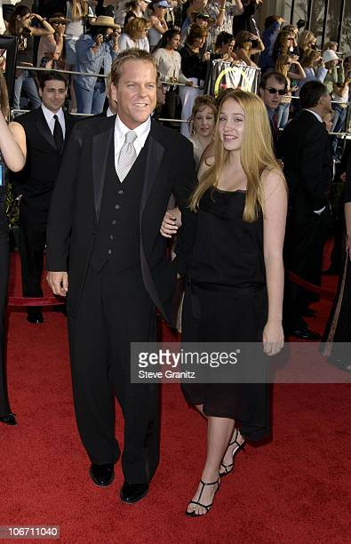 Kiefer Sutherland and daughter Sarah Jude during 9th Annual Screen Actors Guild Awards Arrivals at Shrine Exposition Center in Los Angeles California...