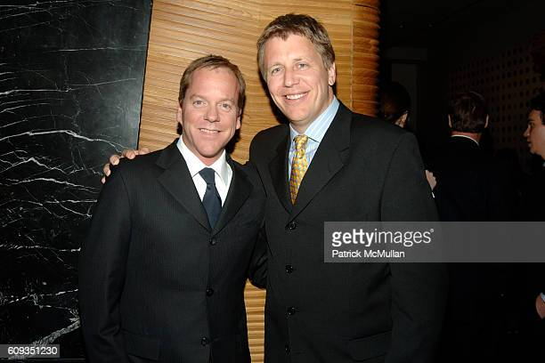 Kiefer Sutherland and Dave Andreychuk attend MEN'S VOGUE hosts a Private Screening of the Season Premiere of '24' at The Core Club on January 11 2007...