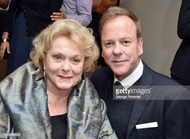 Kiefer Sutherland and his mother actress Shirley Douglas attend 'The Reluctant Fundamentalist' premiere during the 2012 Toronto International Film...