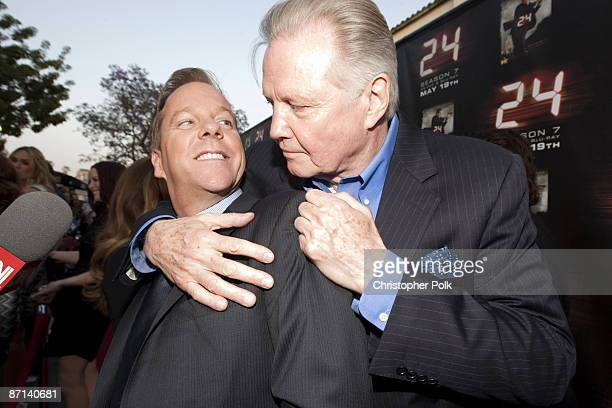 Kiefer Sutherland and Jon Voight arrive to a special screening and panel discussion celebrating the Season 7 Finale of 24 at Wadsworth Theater in Los...