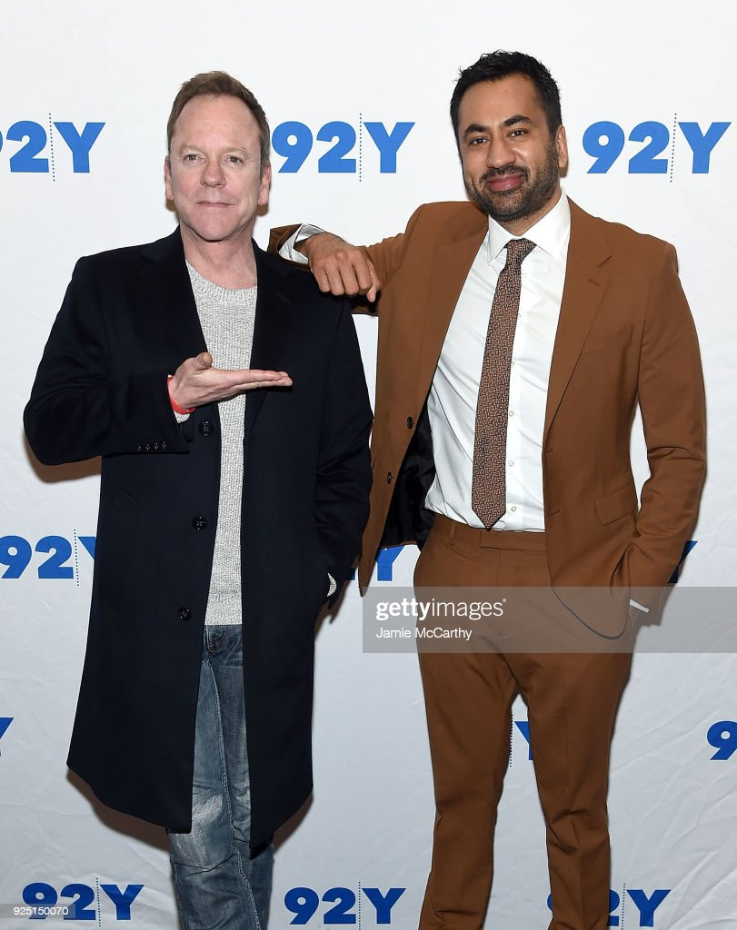 Kiefer Sutherland and Kal Penn attend the 92nd Street Y Presents: 'Designated Survivor' Talk And Preview Screening at Kaufman Concert Hall on February 27, 2018 in New York City.