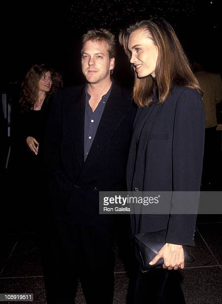 Kiefer Sutherland and Lisa Stothard during Article 99 Los Angeles Premiere at Directors Guild in West Hollywood California United States
