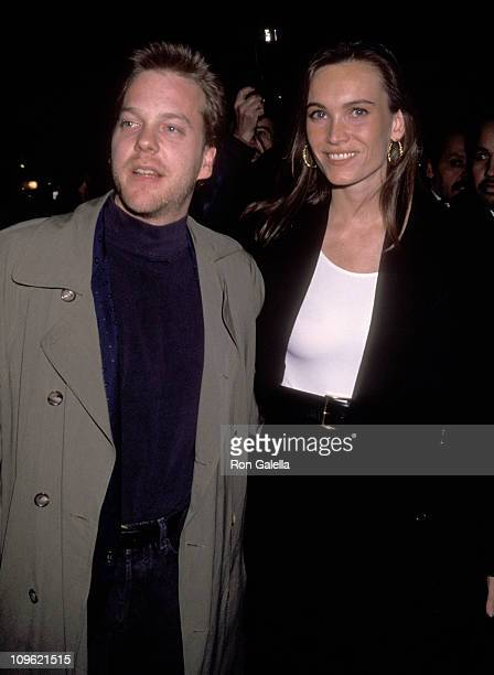 Kiefer Sutherland and Lisa Stothard during Premiere of Article 99 at Planet Hollywood in New York City New York United States