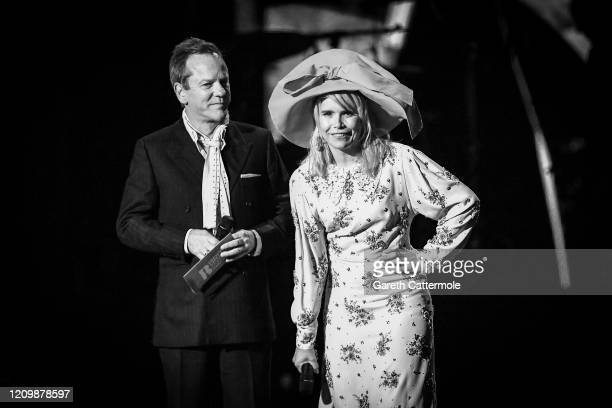 Kiefer Sutherland and Paloma Faith present the International Male Solo Artist award during The BRIT Awards 2020 at The O2 Arena on February 18 2020...