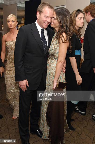 Kiefer Sutherland and Trisha Cardoso during Fox 2006 Golden Globes After Party at Beverly Hilton Stardust Room in Beverly Hills California United...