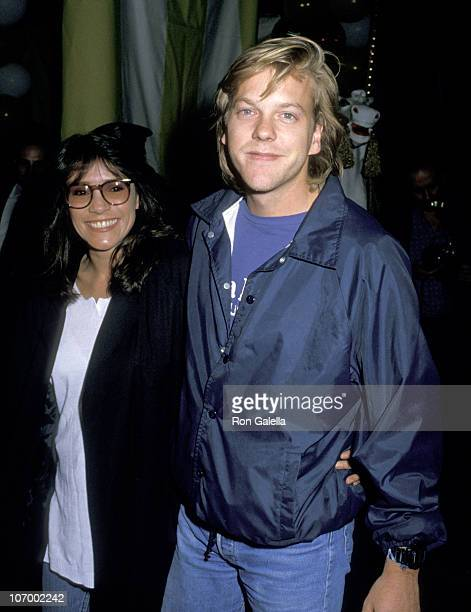 Kiefer Sutherland and Wife Camelia Kath during Big Los Angeles Premiere May 31 1988 at 20th Century Fox Studio in Los Angeles California United States