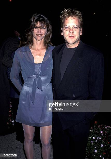 Kiefer Sutherland and Wife Kelly Winn during Eye For An Eye Los Angeles Premiere Benefiting Natural Neurofibromatosis at Paramount Studios in...