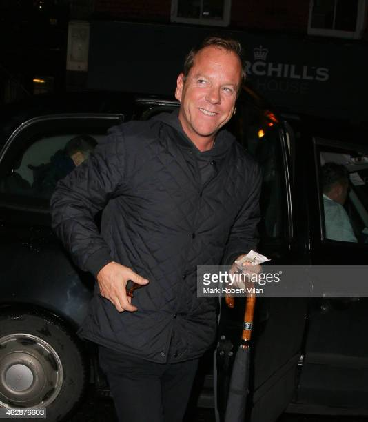 Kiefer Sutherland at Scott's Restaurant on January 15 2014 in London England