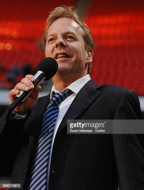 Kiefer Sutherland at 'The Concert for Diana' at Wembley Stadium in London