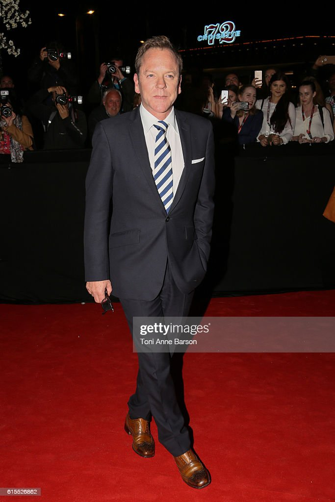 Kiefer Sutherland attends MIPCOM Opening Party at Martinez Hotel on October 17, 2016 in Cannes, France.