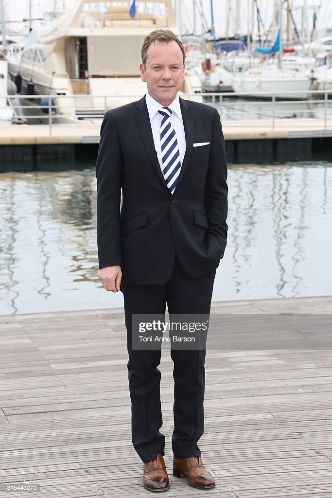 Kiefer Sutherland attends Photocall for 'Designated Survivor' as part of MIPCOM at Palais des Festivals on October 17, 2016 in Cannes, France.