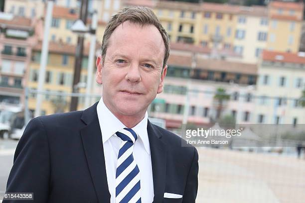 Kiefer Sutherland attends Photocall for 'Designated Survivor' as part of MIPCOM at Palais des Festivals on October 17 2016 in Cannes France