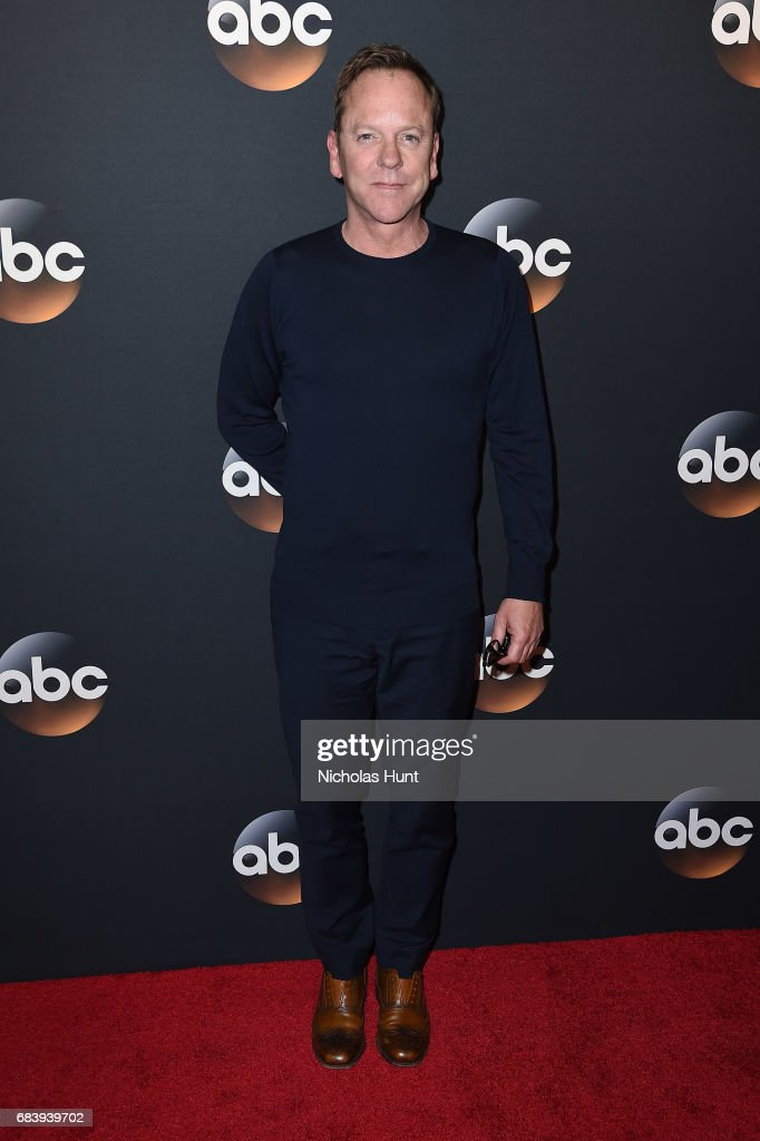 Kiefer Sutherland attends the 2017 ABC Upfront on May 16, 2017 in New York City.