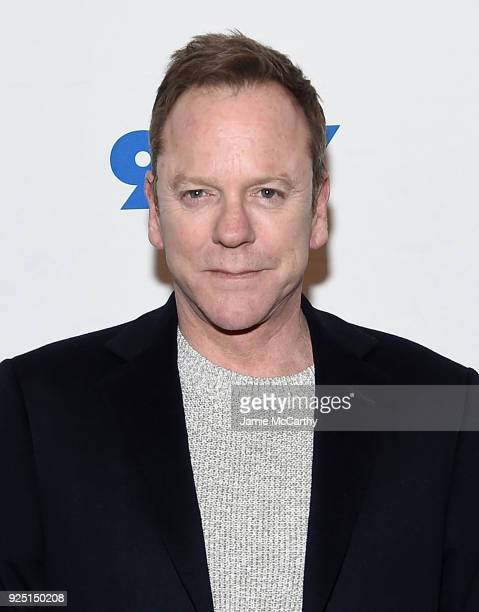 Kiefer Sutherland attends the 92nd Street Y Presents 'Designated Survivor' Talk And Preview Screening at Kaufman Concert Hall on February 27 2018 in...