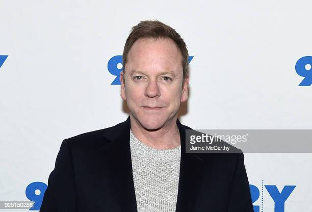 Kiefer Sutherland attends the 92nd Street Y Presents Designated Survivor Talk And Preview Screening at Kaufman Concert Hall on February 27 2018 in...