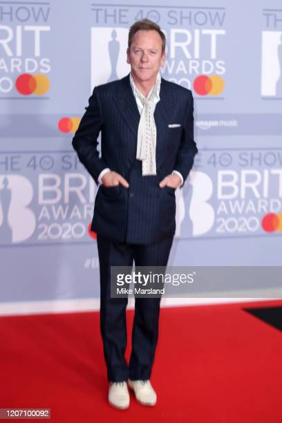 Kiefer Sutherland attends The BRIT Awards 2020 at The O2 Arena on February 18 2020 in London England