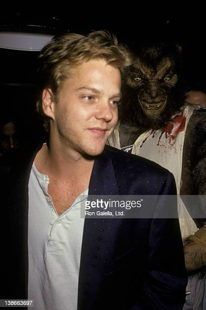 Kiefer Sutherland attends the premiere of 'Monster Squad' on June 3 1987 at the Hard Rock Cafe in New York City