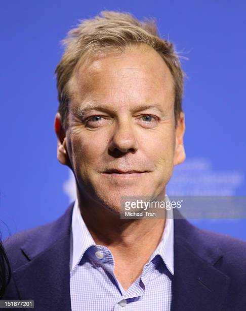 Kiefer Sutherland attends 'The Reluctant Fundamentalist' photo call during the 2012 Toronto International Film Festival held at TIFF Bell Lightbox on...