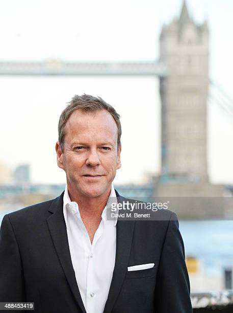 Kiefer Sutherland attends the UK premiere of '24 Live Another Day' at Old Billingsgate Market on May 6 2014 in London England