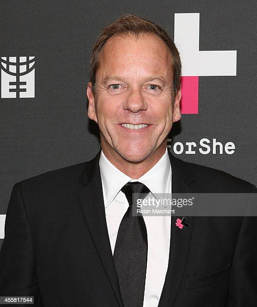 """Kiefer Sutherland attends UN Women's """"HeForShe"""" VIP After Party at The Peninsula Hotel on September 20, 2014 in New York City."""