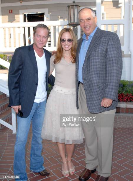 Kiefer Sutherland Dana Walden and Gary Newman during 20th Century Fox Television Producers and Stars Party at Shutters on the Beach in Venice...