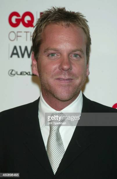 Kiefer Sutherland during 2002 GQ Men of the Year Awards Press Room at Hammerstein Ballroom in New York City New York United States