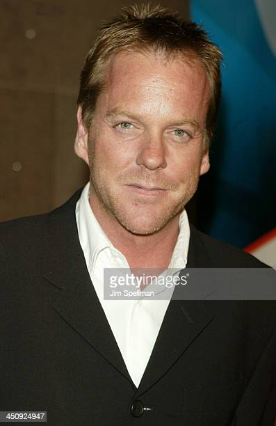 Kiefer Sutherland during 20032004 FOX Upfront After Party at Grand Central Terminal in New York City New York United States