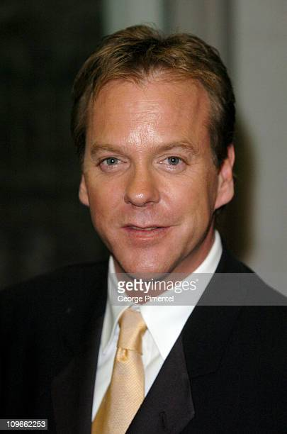 Kiefer Sutherland during 2005 Canada's Walk of Fame Press Room at Elgin Theatre in Toronto Ontario Canada