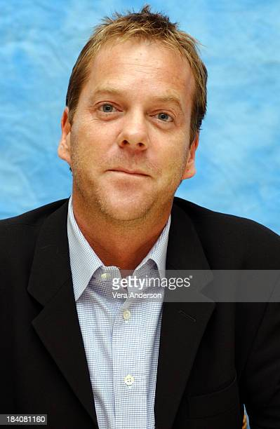 Kiefer Sutherland during 24 3rd Season Press Conference with Kiefer Sutherland at Four Seasons Hotel in Beverly Hills California United States