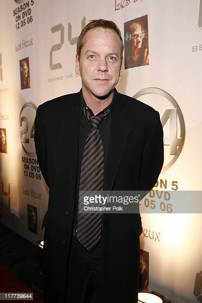 Kiefer Sutherland during '24' Season Five DVD Release at Les Deux in Hollywood, California, United States.