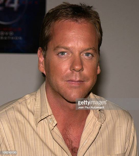Kiefer Sutherland during '24' Season Two 24Hour Marathon Screening at '24' Soundstages in Woodland Hills California United States