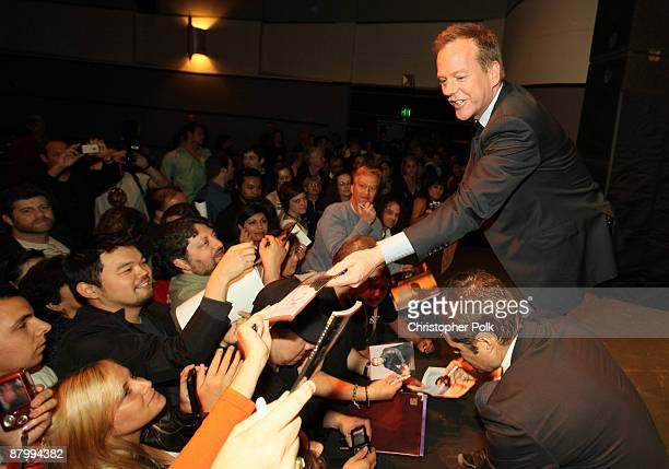 Kiefer Sutherland during a special screening and panel discussion celebrating the Season 7 Finale of 24 at Wadsworth Theater in Los Angeles CA on May...