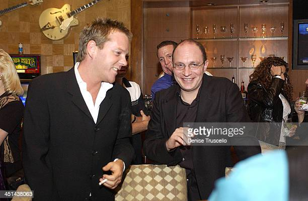 Kiefer Sutherland during Celebrities Gamble at The Hard Rock Hotel at The Hard Rock Hotel in Las Vegas Nevada United States