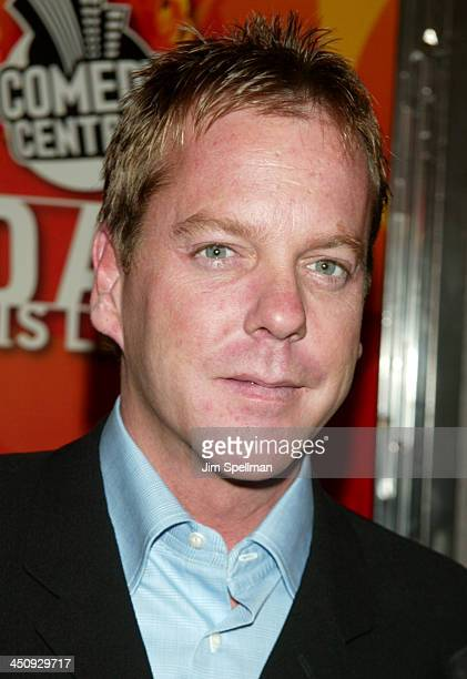 Kiefer Sutherland during Comedy Central Roasts Denis Leary at The Hammerstein Ballroom in New York City New York United States