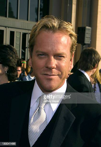 Kiefer Sutherland during The 8th Annual Screen Actors Guild Awards Arrivals at Shrine Exposition Center in Los Angeles California United States