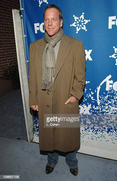Kiefer Sutherland during The Fox All-Star Winter 2007 TCA Press Tour Party - Red Carpet and Inside at Villa Sorriso in Pasadena, California, United...