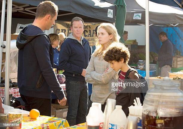Kiefer Sutherland Greg Ellis Saxon Sharbino and David Mazouz in the 'Fight or Flight' episode of TOUCH airing Friday May 3 2013 on FOX