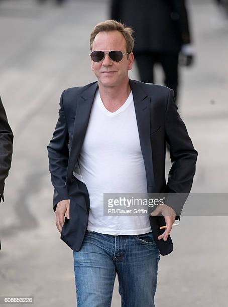 Kiefer Sutherland is seen at 'Jimmy Kimmel Live' on September 19 2016 in Los Angeles California