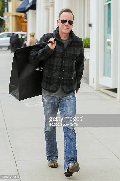Kiefer Sutherland is seen on December 23 2016 in Los Angeles California