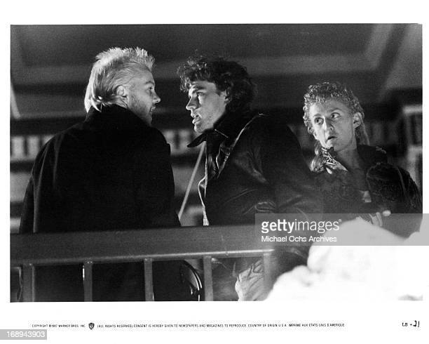 Kiefer Sutherland Jason Patric and Alex Winter in a scene from the film 'The Lost Boys' 1987