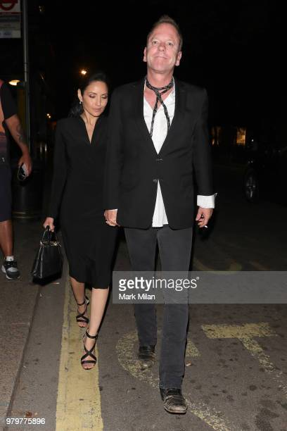 Kiefer Sutherland leaving Annabel's club on June 20 2018 in London England