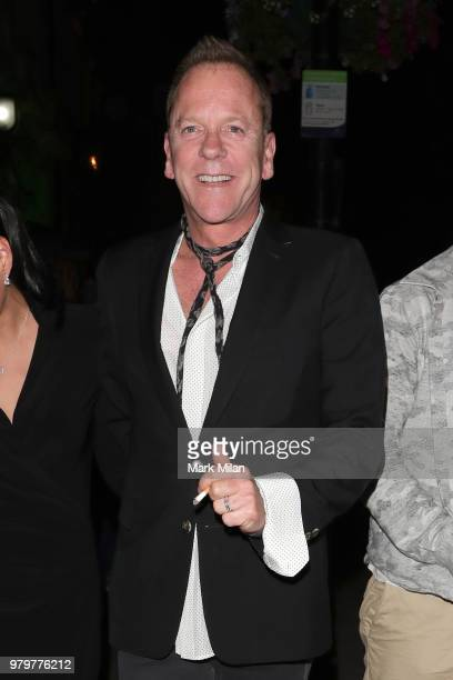 Kiefer Sutherland leaving Annabel's club on June 20, 2018 in London, England.