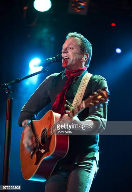 Kiefer Sutherland performs on stage at Sala Bikini on June 17 2018 in Barcelona Spain