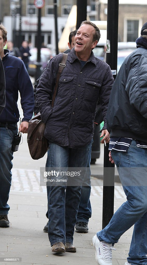 Kiefer Sutherland seen filming scenes for TV series '24' on
