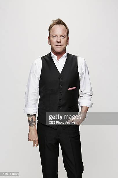 Kiefer Sutherland stops by the CBS Photo Booth during the 51st ACADEMY OF COUNTRY MUSIC AWARDS cohosted by Luke Bryan and Dierks Bentley from the MGM...