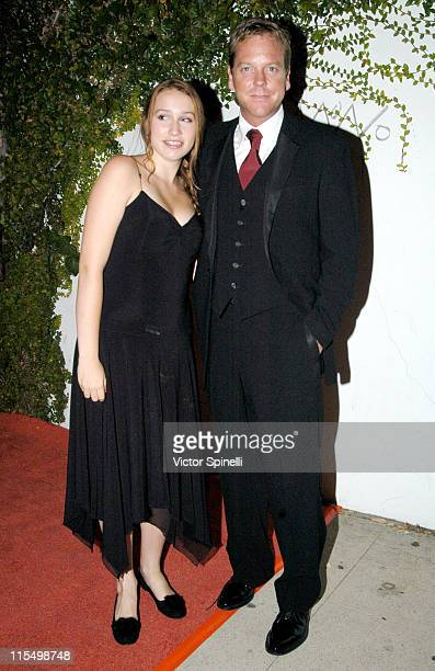 Kiefer Sutherland with daughter Sarah during The 55th Annual Primetime Emmy Awards 20th Century Fox Post Emmy Gala at Morton's Resturant in Hollywood...