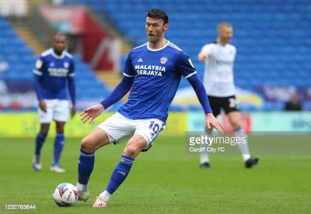 Kieffer Moore of Cardiff City FC during the Sky Bet Championship match between Cardiff City and Rotherham United at Cardiff City Stadium on May 8,...