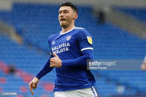 Kieffer Moore of Cardiff City in action during the Sky Bet Championship match between Cardiff City and Middlesbrough at the Cardiff City Stadium on...